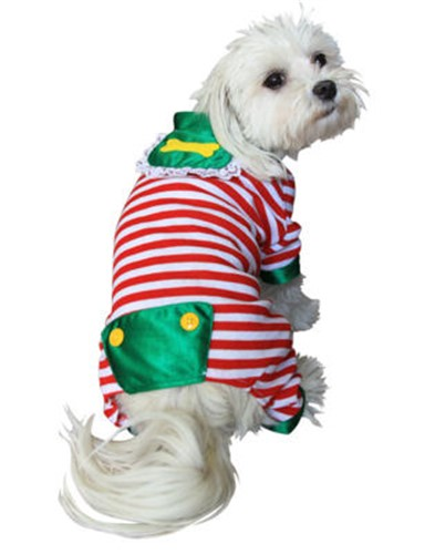 Christmas Pajamas For Dog.Red Stripes Christmas Dog Pajamas