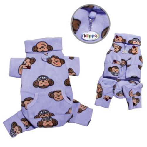 Silly Monkey Pink Fleece Dog Pajamas Klippo Dog Pajamas