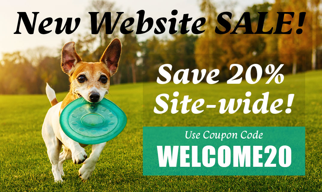New Website Launch Sale. Save 20% off Site-wide.