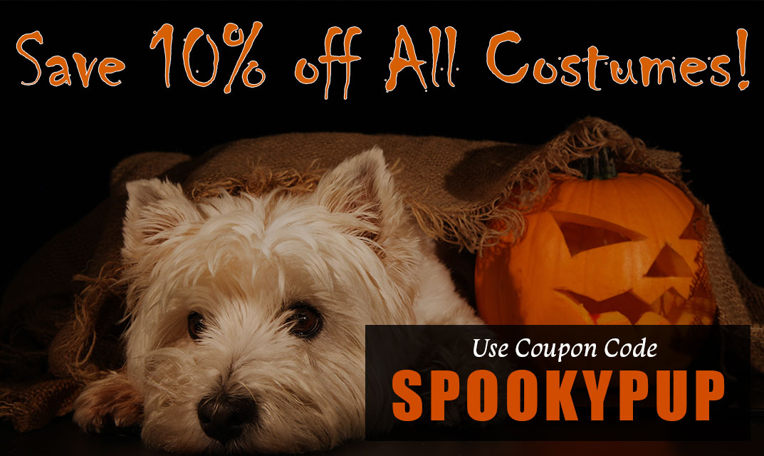 Save 10% SPOOKYPUP at checkout-save on all costumes