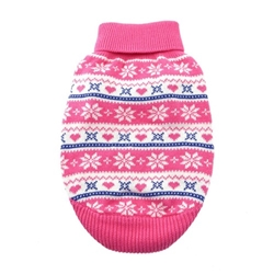 100% Pure Combed Cotton Dog Sweater - PINK SNOWFLAKE and HEARTS  Roxy & Lulu, wooflink, susan lanci, dog clothes, small dog clothes, urban pup, pooch outfitters, dogo, hip doggie, doggie design, small dog dress, pet clotes, dog boutique. pet boutique, bloomingtails dog boutique, dog raincoat, dog rain coat, pet raincoat, dog shampoo, pet shampoo, dog bathrobe, pet bathrobe, dog carrier, small dog carrier, doggie couture, pet couture, dog football, dog toys, pet toys, dog clothes sale, pet clothes sale, shop local, pet store, dog store, dog chews, pet chews, worthy dog, dog bandana, pet bandana, dog halloween, pet halloween, dog holiday, pet holiday, dog teepee, custom dog clothes, pet pjs, dog pjs, pet pajamas, dog pajamas,dog sweater, pet sweater, dog hat, fabdog, fab dog, dog puffer coat, dog winter ja