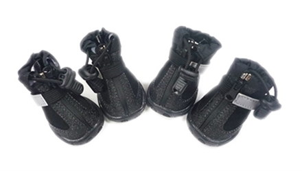 All Weather Dog Boots in Black or Blue