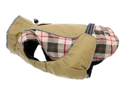 Alpine  All Weather Dog Coat-BEIGE PLAID puppy bed,  beds,dog mat, pet mat, puppy mat, fab dog pet sweater, dog swepet clothes, dog clothes, puppy clothes, pet store, dog store, puppy boutique store, dog boutique, pet boutique, puppy boutique, Bloomingtails, dog, small dog clothes, large dog clothes, large dog costumes, small dog costumes, pet stuff, Halloween dog, puppy Halloween, pet Halloween, clothes, dog puppy Halloween, dog sale, pet sale, puppy sale, pet dog tank, pet tank, pet shirt, dog shirt, puppy shirt,puppy tank, I see spot, dog collars, dog leads, pet collar, pet lead,puppy collar, puppy lead, dog toys, pet toys, puppy toy, dog beds, pet beds, puppy bed,  beds,dog mat, pet mat, puppy mat, fab dog pet sweater, dog sweater, dog winter, pet winter,dog raincoat, pet rain