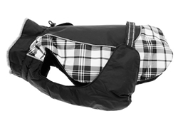Alpine  All Weather Dog Coat-BLACK & WHITE PLAID puppy bed,  beds,dog mat, pet mat, puppy mat, fab dog pet sweater, dog swepet clothes, dog clothes, puppy clothes, pet store, dog store, puppy boutique store, dog boutique, pet boutique, puppy boutique, Bloomingtails, dog, small dog clothes, large dog clothes, large dog costumes, small dog costumes, pet stuff, Halloween dog, puppy Halloween, pet Halloween, clothes, dog puppy Halloween, dog sale, pet sale, puppy sale, pet dog tank, pet tank, pet shirt, dog shirt, puppy shirt,puppy tank, I see spot, dog collars, dog leads, pet collar, pet lead,puppy collar, puppy lead, dog toys, pet toys, puppy toy, dog beds, pet beds, puppy bed,  beds,dog mat, pet mat, puppy mat, fab dog pet sweater, dog sweater, dog winter, pet winter,dog raincoat, pet rain