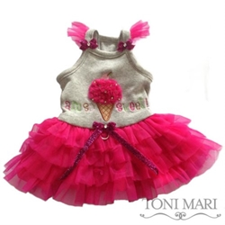 Am So Sweet Dog Dress in Pink