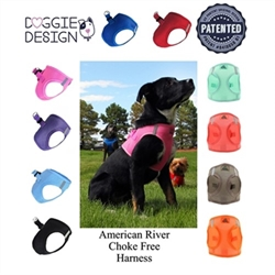 American River Choke Free Dog Harness in Many Colors