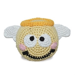 Angel Cotton Knit  Squeaker Chew Toy