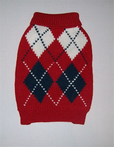 Argyle Red Sweater - gby-argyle-red