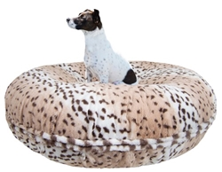 Bagel Bed in Aspen Snow Leopard Roxy & Lulu, wooflink, susan lanci, dog clothes, small dog clothes, urban pup, pooch outfitters, dogo, hip doggie, doggie design, small dog dress, pet clotes, dog boutique. pet boutique, bloomingtails dog boutique, dog raincoat, dog rain coat, pet raincoat, dog shampoo, pet shampoo, dog bathrobe, pet bathrobe, dog carrier, small dog carrier, doggie couture, pet couture, dog football, dog toys, pet toys, dog clothes sale, pet clothes sale, shop local, pet store, dog store, dog chews, pet chews, worthy dog, dog bandana, pet bandana, dog halloween, pet halloween, dog holiday, pet holiday, dog teepee, custom dog clothes, pet pjs, dog pjs, pet pajamas, dog pajamas,dog sweater, pet sweater, dog hat, fabdog, fab dog, dog puffer coat, dog winter ja