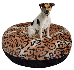 Bagel Bed in Cheetah & Black Puma Roxy & Lulu, wooflink, susan lanci, dog clothes, small dog clothes, urban pup, pooch outfitters, dogo, hip doggie, doggie design, small dog dress, pet clotes, dog boutique. pet boutique, bloomingtails dog boutique, dog raincoat, dog rain coat, pet raincoat, dog shampoo, pet shampoo, dog bathrobe, pet bathrobe, dog carrier, small dog carrier, doggie couture, pet couture, dog football, dog toys, pet toys, dog clothes sale, pet clothes sale, shop local, pet store, dog store, dog chews, pet chews, worthy dog, dog bandana, pet bandana, dog halloween, pet halloween, dog holiday, pet holiday, dog teepee, custom dog clothes, pet pjs, dog pjs, pet pajamas, dog pajamas,dog sweater, pet sweater, dog hat, fabdog, fab dog, dog puffer coat, dog winter ja