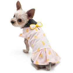 Banana  Dress  wooflink, susan lanci, dog clothes, small dog clothes, urban pup, pooch outfitters, dogo, hip doggie, doggie design, small dog dress, pet clotes, dog boutique. pet boutique, bloomingtails dog boutique, dog raincoat, dog rain coat, pet raincoat, dog shampoo, pet shampoo, dog bathrobe, pet bathrobe, dog carrier, small dog carrier, doggie couture, pet couture, dog football, dog toys, pet toys, dog clothes sale, pet clothes sale, shop local, pet store, dog store, dog chews, pet chews, worthy dog, dog bandana, pet bandana, dog halloween, pet halloween, dog holiday, pet holiday, dog teepee, custom dog clothes, pet pjs, dog pjs, pet pajamas, dog pajamas,dog sweater, pet sweater, dog hat, fabdog, fab dog, dog puffer coat, dog winter jacket, dog col