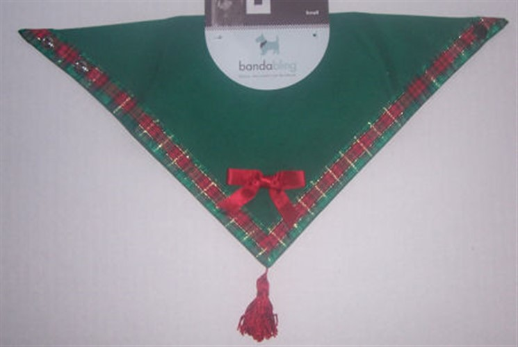 Bandabling - Green & Plaid Christmas Dog Bandanna wooflink, susan lanci, dog clothes, small dog clothes, urban pup, pooch outfitters, dogo, hip doggie, doggie design, small dog dress, pet clotes, dog boutique. pet boutique, bloomingtails dog boutique, dog raincoat, dog rain coat, pet raincoat, dog shampoo, pet shampoo, dog bathrobe, pet bathrobe, dog carrier, small dog carrier, doggie couture, pet couture, dog football, dog toys, pet toys, dog clothes sale, pet clothes sale, shop local, pet store, dog store, dog chews, pet chews, worthy dog, dog bandana, pet bandana, dog halloween, pet halloween, dog holiday, pet holiday, dog teepee, custom dog clothes, pet pjs, dog pjs, pet pajamas, dog pajamas,dog sweater, pet sweater, dog hat, fabdog, fab dog, dog puffer coat, dog winter jacket, dog col