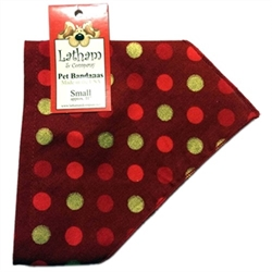 Bandana Collars - Christmas Dots