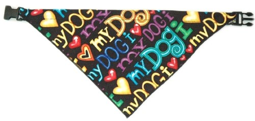 Bandana Collars - I Love My Dog