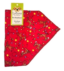 Bandana Collars - Red Reindeer