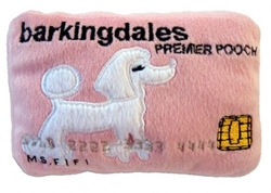 Barkingdales Credit Card Dog Plush Toy   dog bowls,susan lanci, puppia,wooflink, luxury dog boutique,tonimari,pet clothes, dog clothes, puppy clothes, pet store, dog store, puppy boutique store, dog boutique, pet boutique, puppy boutique, Bloomingtails, dog, small dog clothes, large dog clothes, large dog costumes, small dog costumes, pet stuff, Halloween dog, puppy Halloween, pet Halloween, clothes, dog puppy Halloween, dog sale, pet sale, puppy sale, pet dog tank, pet tank, pet shirt, dog shirt, puppy shirt,puppy tank, I see spot, dog collars, dog leads, pet collar, pet lead,puppy collar, puppy lead, dog toys, pet toys, puppy toy, dog beds, pet beds, puppy bed,  beds,dog mat, pet mat, puppy mat, fab dog pet sweater, dog sweater, dog winter, pet winter,dog raincoat, pet raincoat