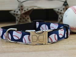 Baseball Dog Collar-Personalizable  wooflink, susan lanci, dog clothes, small dog clothes, urban pup, pooch outfitters, dogo, hip doggie, doggie design, small dog dress, pet clotes, dog boutique. pet boutique, bloomingtails dog boutique, dog raincoat, dog rain coat, pet raincoat, dog shampoo, pet shampoo, dog bathrobe, pet bathrobe, dog carrier, small dog carrier, doggie couture, pet couture, dog football, dog toys, pet toys, dog clothes sale, pet clothes sale, shop local, pet store, dog store, dog chews, pet chews, worthy dog, dog bandana, pet bandana, dog halloween, pet halloween, dog holiday, pet holiday, dog teepee, custom dog clothes, pet pjs, dog pjs, pet pajamas, dog pajamas,dog sweater, pet sweater, dog hat, fabdog, fab dog, dog puffer coat, dog winter jacket, dog col