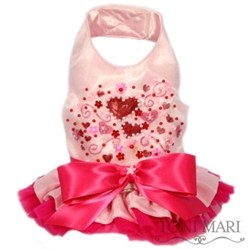 Be My Valentine Hand Painted Organza Dress
