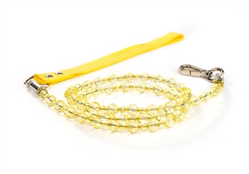 Beaded Dog Leash - Citrine  dog bowls,susan lanci, puppia,wooflink, luxury dog boutique,tonimari,pet clothes, dog clothes, puppy clothes, pet store, dog store, puppy boutique store, dog boutique, pet boutique, puppy boutique, Bloomingtails, dog, small dog clothes, large dog clothes, large dog costumes, small dog costumes, pet stuff, Halloween dog, puppy Halloween, pet Halloween, clothes, dog puppy Halloween, dog sale, pet sale, puppy sale, pet dog tank, pet tank, pet shirt, dog shirt, puppy shirt,puppy tank, I see spot, dog collars, dog leads, pet collar, pet lead,puppy collar, puppy lead, dog toys, pet toys, puppy toy, dog beds, pet beds, puppy bed,  beds,dog mat, pet mat, puppy mat, fab dog pet sweater, dog sweater, dog winter, pet winter,dog raincoat, pet raincoat,