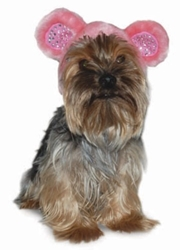 Bear Dog Hat - Pink
