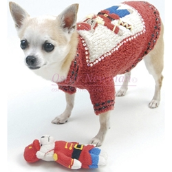 Beary Merry Holiday Dog Sweater with Toy