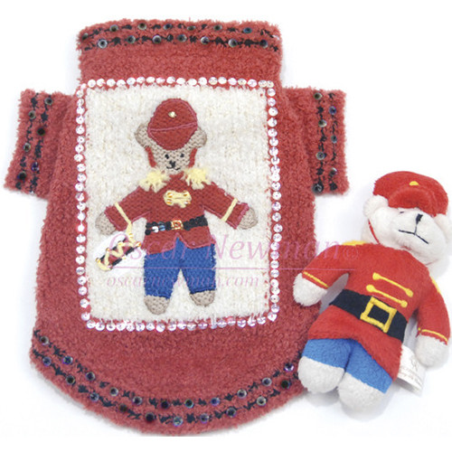 Beary Merry Holiday Dog Sweater with Toy - on-berrymerry