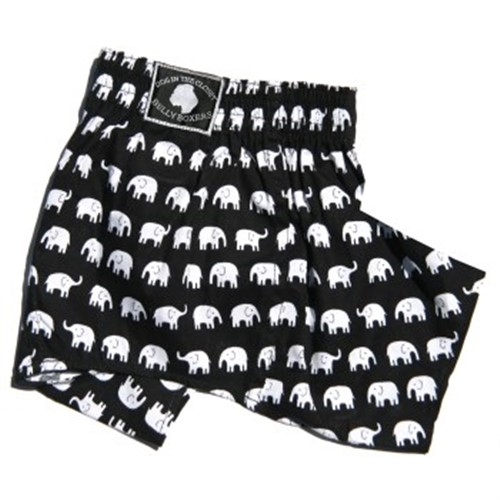 Belly Band Boxer Shorts in Elephant - dic-elephant-boxer