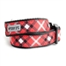 Bias Plaid Red Dog Collar & Lead  - wd-bias-collar