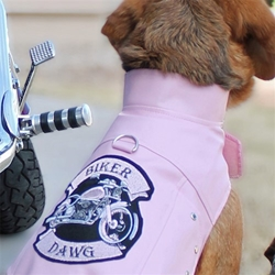 Biker Dawg Motorcycle Jacket - Pink wooflink, susan lanci, dog clothes, small dog clothes, urban pup, pooch outfitters, dogo, hip doggie, doggie design, small dog dress, pet clotes, dog boutique. pet boutique, bloomingtails dog boutique, dog raincoat, dog rain coat, pet raincoat, dog shampoo, pet shampoo, dog bathrobe, pet bathrobe, dog carrier, small dog carrier, doggie couture, pet couture, dog football, dog toys, pet toys, dog clothes sale, pet clothes sale, shop local, pet store, dog store, dog chews, pet chews, worthy dog, dog bandana, pet bandana, dog halloween, pet halloween, dog holiday, pet holiday, dog teepee, custom dog clothes, pet pjs, dog pjs, pet pajamas, dog pajamas,dog sweater, pet sweater, dog hat, fabdog, fab dog, dog puffer coat, dog winter jacket, dog col