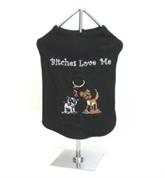Bitches Love Me Dog Harness Tank