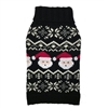 Black Santa Fairisle Pet Sweater    wooflink, susan lanci, dog clothes, small dog clothes, urban pup, pooch outfitters, dogo, hip doggie, doggie design, small dog dress, pet clotes, dog boutique. pet boutique, bloomingtails dog boutique, dog raincoat, dog rain coat, pet raincoat, dog shampoo, pet shampoo, dog bathrobe, pet bathrobe, dog carrier, small dog carrier, doggie couture, pet couture, dog football, dog toys, pet toys, dog clothes sale, pet clothes sale, shop local, pet store, dog store, dog chews, pet chews, worthy dog, dog bandana, pet bandana, dog halloween, pet halloween, dog holiday, pet holiday, dog teepee, custom dog clothes, pet pjs, dog pjs, pet pajamas, dog pajamas,dog sweater, pet sweater, dog hat, fabdog, fab dog, dog puffer coat, dog winter jacket