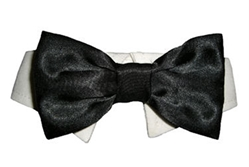 Black Satin Dog Tie Set
