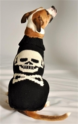 Black Skull Dog Sweater     dog bowls,susan lanci, puppia,wooflink, luxury dog boutique,tonimari,pet clothes, dog clothes, puppy clothes, pet store, dog store, puppy boutique store, dog boutique, pet boutique, puppy boutique, Bloomingtails, dog, small dog clothes, large dog clothes, large dog costumes, small dog costumes, pet stuff, Halloween dog, puppy Halloween, pet Halloween, clothes, dog puppy Halloween, dog sale, pet sale, puppy sale, pet dog tank, pet tank, pet shirt, dog shirt, puppy shirt,puppy tank, I see spot, dog collars, dog leads, pet collar, pet lead,puppy collar, puppy lead, dog toys, pet toys, puppy toy, dog beds, pet beds, puppy bed,  beds,dog mat, pet mat, puppy mat, fab dog pet sweater, dog sweater, dog winter, pet winter,dog raincoat, pet raincoat