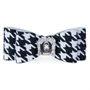 Black & White Houndstooth Big Bow Hair Bow by Susan Lanci wooflink, susan lanci, dog clothes, small dog clothes, urban pup, pooch outfitters, dogo, hip doggie, doggie design, small dog dress, pet clotes, dog boutique. pet boutique, bloomingtails dog boutique, dog raincoat, dog rain coat, pet raincoat, dog shampoo, pet shampoo, dog bathrobe, pet bathrobe, dog carrier, small dog carrier, doggie couture, pet couture, dog football, dog toys, pet toys, dog clothes sale, pet clothes sale, shop local, pet store, dog store, dog chews, pet chews, worthy dog, dog bandana, pet bandana, dog halloween, pet halloween, dog holiday, pet holiday, dog teepee, custom dog clothes, pet pjs, dog pjs, pet pajamas, dog pajamas,dog sweater, pet sweater, dog hat, fabdog, fab dog, dog puffer coat, dog winter jacket, dog col