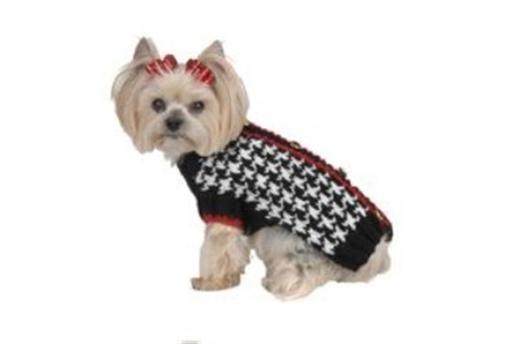 Black & White Houndstooth Dog Sweater - max-houndstooth1-BFY