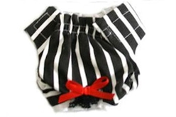 Black & White Striped Dog Panties