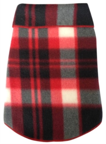 Black and Red Plaid Fleece Pullover