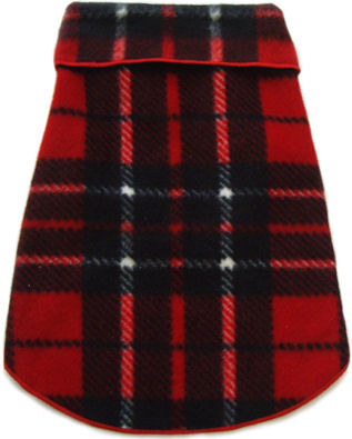 Blanket Plaid Fleece Pullover Sweater - Red  dog bowls,susan lanci, puppia,wooflink, luxury dog boutique,tonimari,pet clothes, dog clothes, puppy clothes, pet store, dog store, puppy boutique store, dog boutique, pet boutique, puppy boutique, Bloomingtails, dog, small dog clothes, large dog clothes, large dog costumes, small dog costumes, pet stuff, Halloween dog, puppy Halloween, pet Halloween, clothes, dog puppy Halloween, dog sale, pet sale, puppy sale, pet dog tank, pet tank, pet shirt, dog shirt, puppy shirt,puppy tank, I see spot, dog collars, dog leads, pet collar, pet lead,puppy collar, puppy lead, dog toys, pet toys, puppy toy, dog beds, pet beds, puppy bed,  beds,dog mat, pet mat, puppy mat, fab dog pet sweater, dog sweater, dog winter, pet winter,dog raincoat, pet raincoat