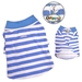 Blue Sky Striped Dog Polo - klip-polo-blueS-ARM