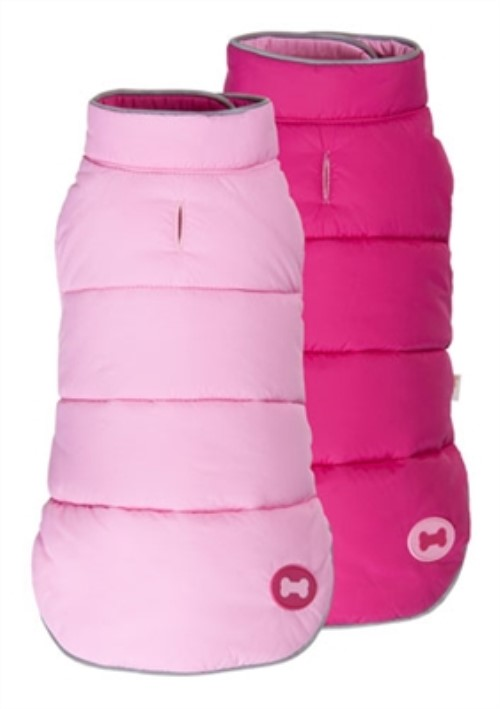 Bone Reversible  Dog Ski Vest - Hot Pink & Light Pink - fab-bone-pink8-A2D