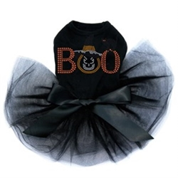 Boo Hat & Cat Tutu  Rhinestone Dress-Many Colors