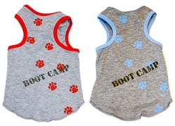 Boot Camp Dog Tank in Red or Blue