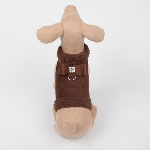 Bowzer in Chocolate by Susan Lanci wooflink, susan lanci, dog clothes, small dog clothes, urban pup, pooch outfitters, dogo, hip doggie, doggie design, small dog dress, pet clotes, dog boutique. pet boutique, bloomingtails dog boutique, dog raincoat, dog rain coat, pet raincoat, dog shampoo, pet shampoo, dog bathrobe, pet bathrobe, dog carrier, small dog carrier, doggie couture, pet couture, dog football, dog toys, pet toys, dog clothes sale, pet clothes sale, shop local, pet store, dog store, dog chews, pet chews, worthy dog, dog bandana, pet bandana, dog halloween, pet halloween, dog holiday, pet holiday, dog teepee, custom dog clothes, pet pjs, dog pjs, pet pajamas, dog pajamas,dog sweater, pet sweater, dog hat, fabdog, fab dog, dog puffer coat, dog winter jacket, dog col