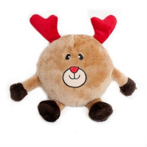 Brainey Santa or Reindeer Dog Toy - c2c-brainey-toyR-E1V