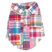 Bright Patch Madras Dog Shirt      - wd-bright-shirt