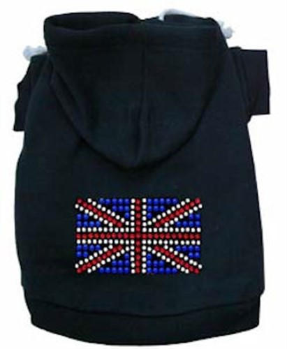 British Flag Rhinestone  Dog Hoodie - Many Colors