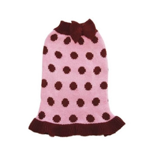 Bubble Dot Sweater Dress- Pink or Red - dgo-bs