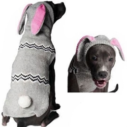 Bunny Hoodie Dog Sweater      dog bowls,susan lanci, puppia,wooflink, luxury dog boutique,tonimari,pet clothes, dog clothes, puppy clothes, pet store, dog store, puppy boutique store, dog boutique, pet boutique, puppy boutique, Bloomingtails, dog, small dog clothes, large dog clothes, large dog costumes, small dog costumes, pet stuff, Halloween dog, puppy Halloween, pet Halloween, clothes, dog puppy Halloween, dog sale, pet sale, puppy sale, pet dog tank, pet tank, pet shirt, dog shirt, puppy shirt,puppy tank, I see spot, dog collars, dog leads, pet collar, pet lead,puppy collar, puppy lead, dog toys, pet toys, puppy toy, dog beds, pet beds, puppy bed,  beds,dog mat, pet mat, puppy mat, fab dog pet sweater, dog sweater, dog winter, pet winter,dog raincoat, pet raincoat