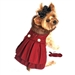 Burgundy Wool Classic Dog Coat Harness with Fur Collar and Matching Leash - dd-burclassic-coat