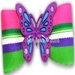 Dog Bows- Butterfly Purple Dog Hair Bow  - hb-butterpurp